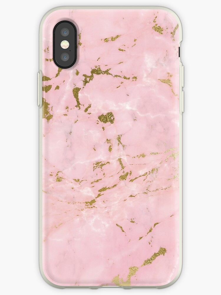 newest collection e0891 158ae 'Rose pink marble phone case' iPhone Case by joellis