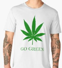 Vape Nation - Go Green With Weed  Men's Premium T-Shirt