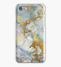 Pastel gold streaks marble phone case iPhone Case/Skin