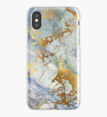 Pastel gold streaks marble phone case iPhone Case/Skin