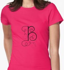 Calligraphic letter B with flourishes of decorative whorls T-Shirt