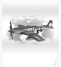 P-51 Mustang Fighter Aircraft  Poster