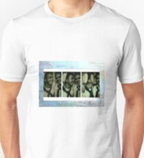 World War II Sailors Kiss in Photobooth on Pacific Map Unisex T-Shirt