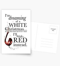 Alcohol Christmas Postcards