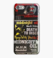 7 old midnight oil posters iPhone Case/Skin
