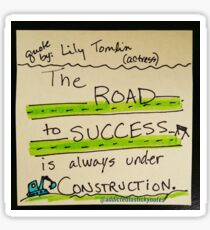 The Road to Success Sticker