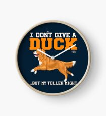I don't give a DUCK toller Clock