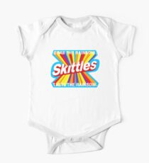 Rainbow food quote Short Sleeve Baby One-Piece