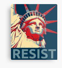Anti-Trump Resist Freiheitsstatue Metallbild