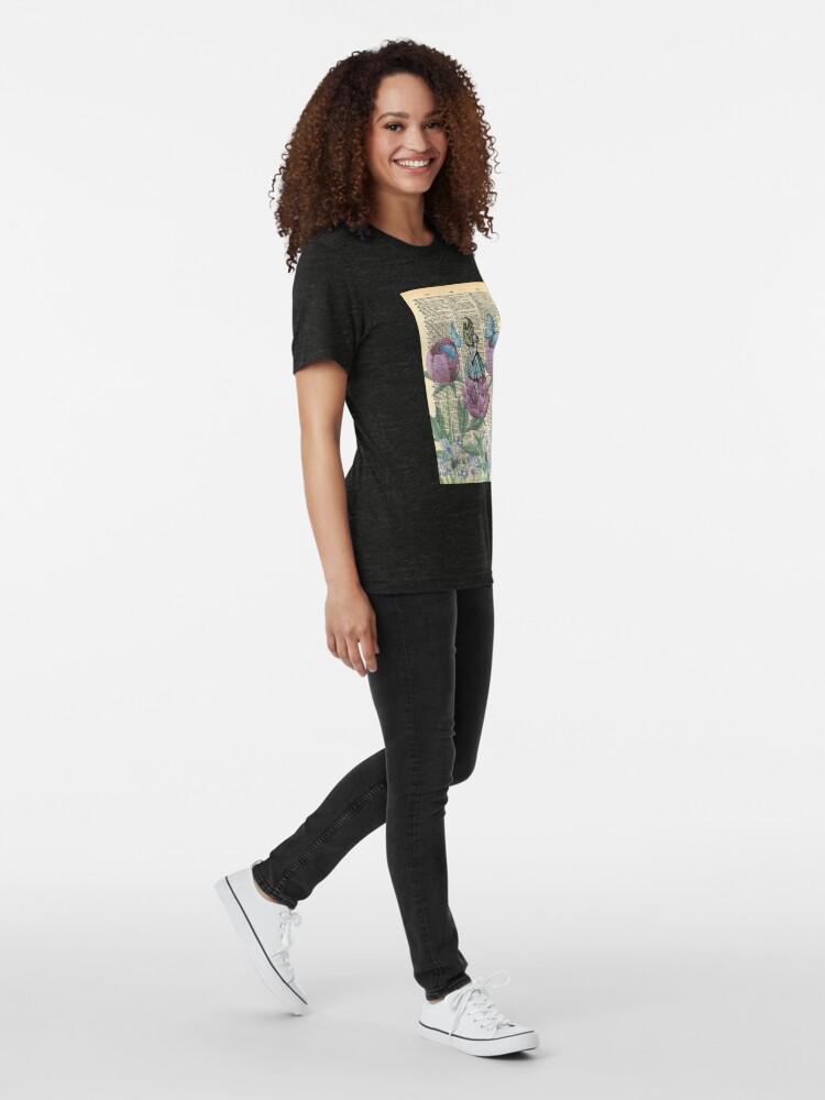 Vista alternativa de Camiseta de tejido mixto Alicia en el país de las maravillas - Wonderland Garden