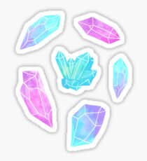 Pastell Aquarell Kristalle Sticker