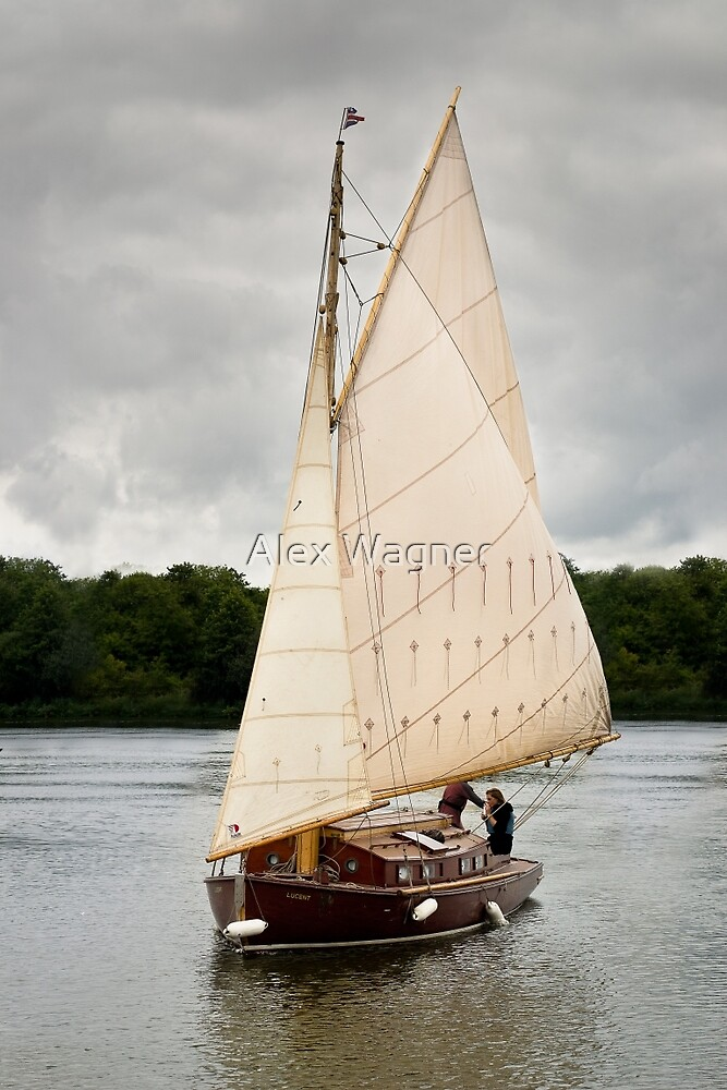 Norfolk Gaff Rig Yacht by Alex Wagner
