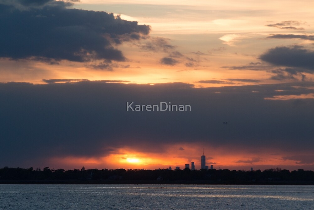 Sundown on NYC from LBNY by KarenDinan