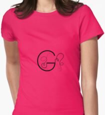 Calligraphic letter G with flourishes of decorative whorls T-Shirt