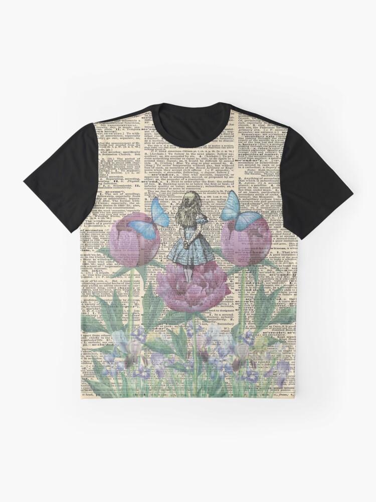 Vista alternativa de Camiseta gráfica Alicia en el país de las maravillas - Wonderland Garden