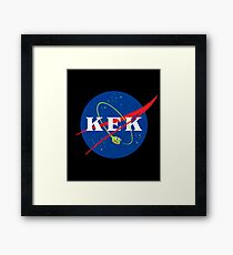 KEK into outer space! Framed Print