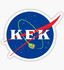 KEK into outer space! Sticker