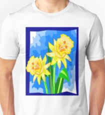 BEAUTIFUL DAFFODIL PRINT: by Casa di Gandalini Fashions Unisex T-Shirt