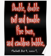 MACBETH, Play, The Play, Theatre, Double, Double Toil & Trouble, Bubble, Witches, Shakespeare, Poster