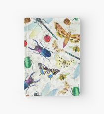 Watercolor insects Hardcover Journal
