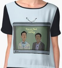 Troy and Abed in the Morning! Chiffon Top