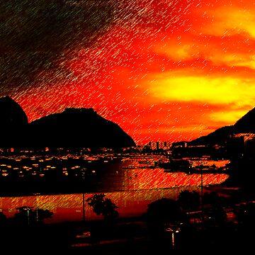 Rio de Janeiro Sunset by cazz840