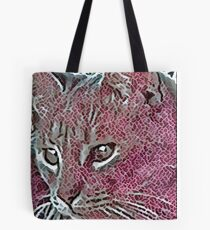 Watchful Cat in Mosaic Tote Bag