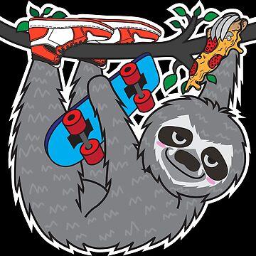 Skater Sloth by plushism