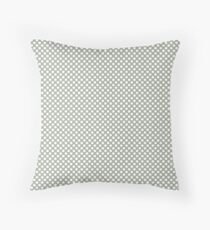 Desert Sage Polka Dots Throw Pillow