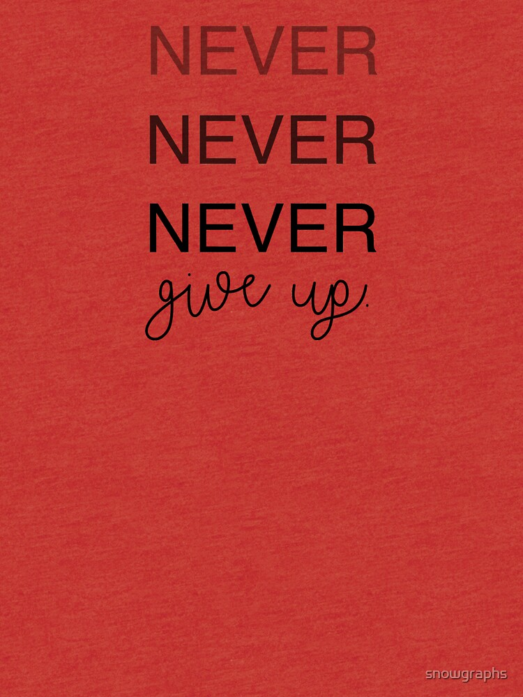 NEVER NEVER NEVER give up. by snowgraphs