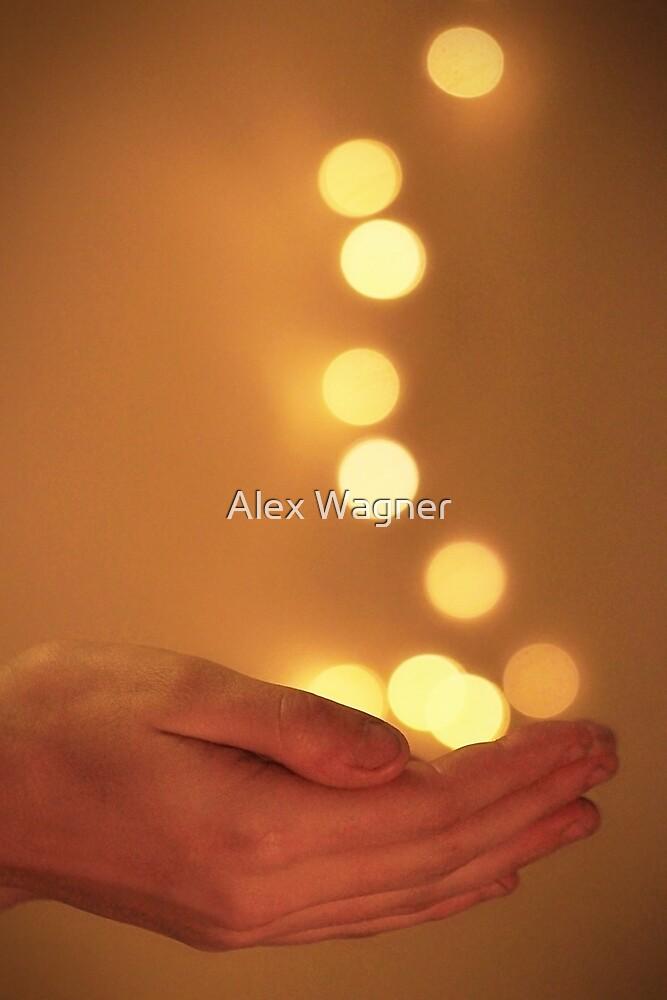 Falling Bokeh Gold by Alex Wagner