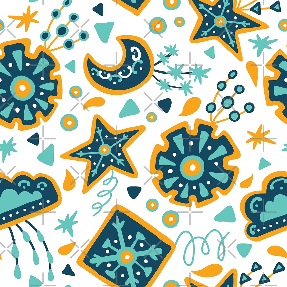 Abstract weather sky kites by Yuliia Studzinska