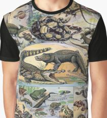 Adolphe Millot Reptile Graphic T-Shirt