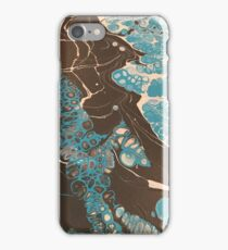 Blue cells raging  iPhone Case/Skin