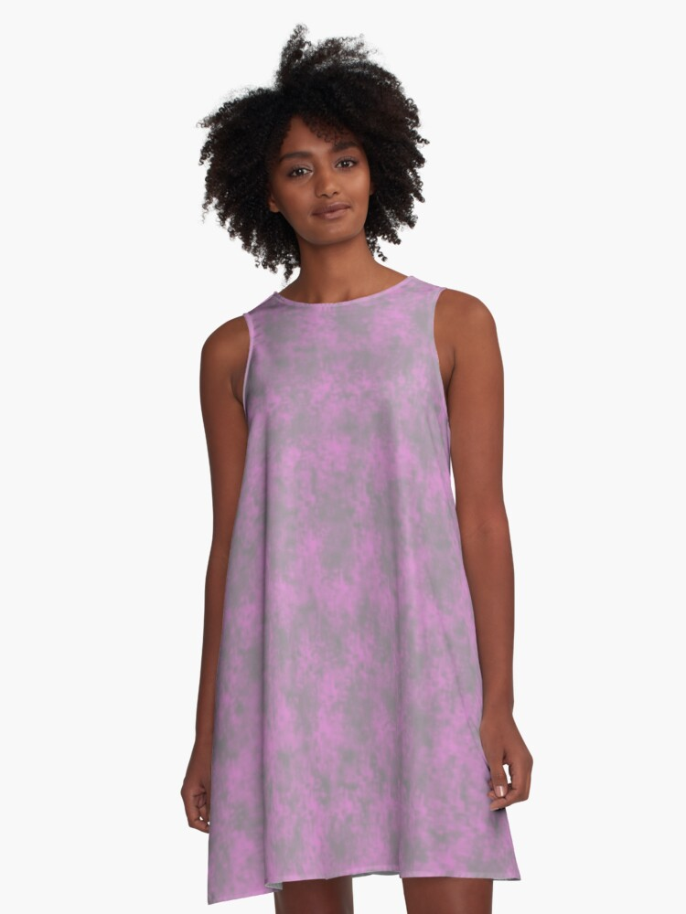 Light Pink Pixel Design A-Line Dress Front