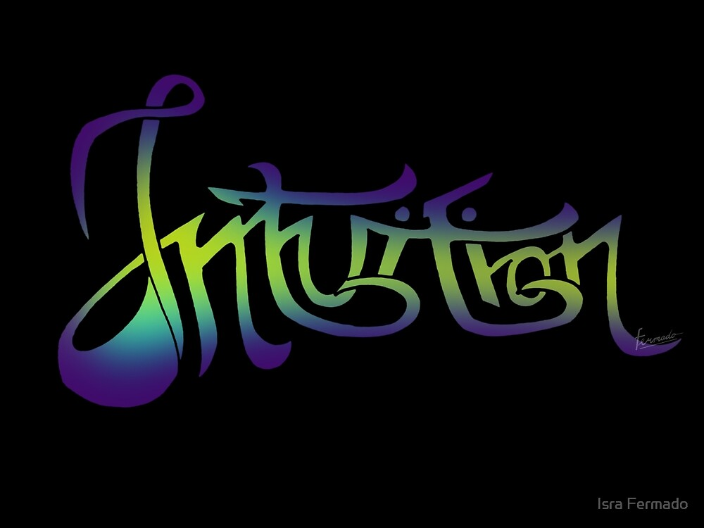 intuition lettering by Fermado