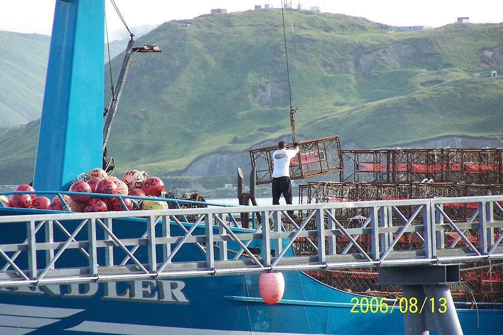 Getting ready for King Crab Fishing by Kevin  Warrick