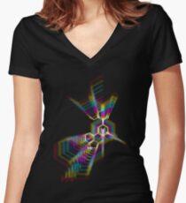 C20H25N3O- LSD Women's Fitted V-Neck T-Shirt