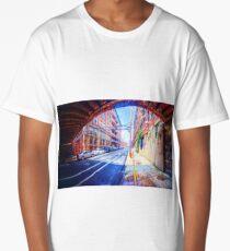 Panorama 2296: 13th Street under Noble Street Long T-Shirt