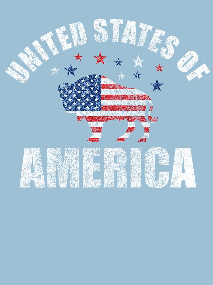 United States of America Vintage Buffalo T-Shirt by Dan66