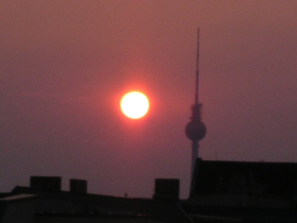 sun down town tower by Ezizza