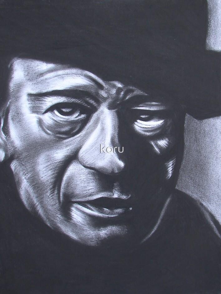 charcoal john wayne by koru