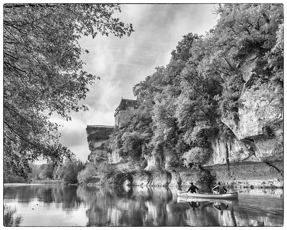 BW France Vezere River by Steven House