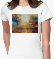 Joseph Mallord William turner vesuvius in eruption Womens Fitted T-Shirt