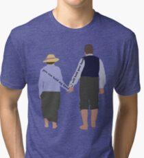 DA: Chelsie by the beach + quote1 Tri-blend T-Shirt
