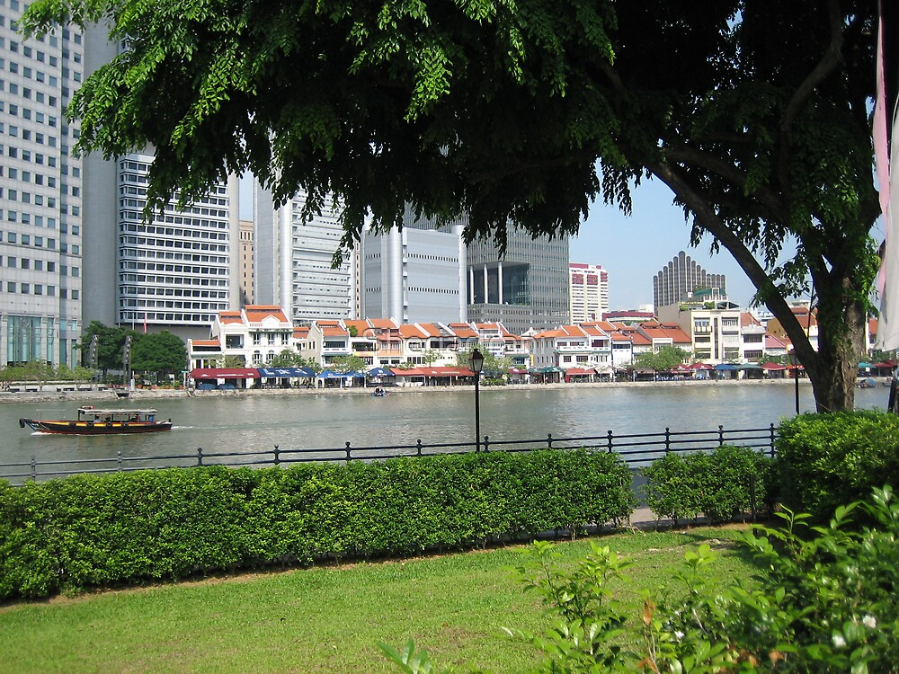 By the waterside, Singapore by SheriarIrani