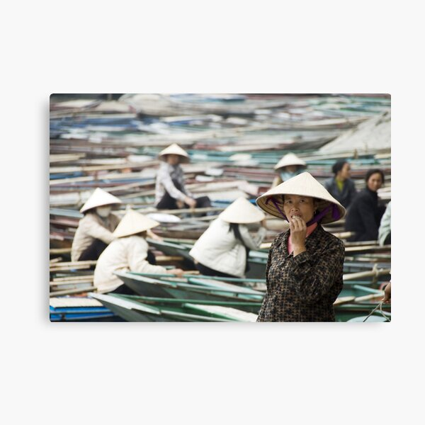 Yen Vi River Tam Coc Canvas Print
