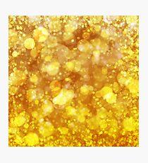 Sparkling Gold Bokeh Print Photographic Print