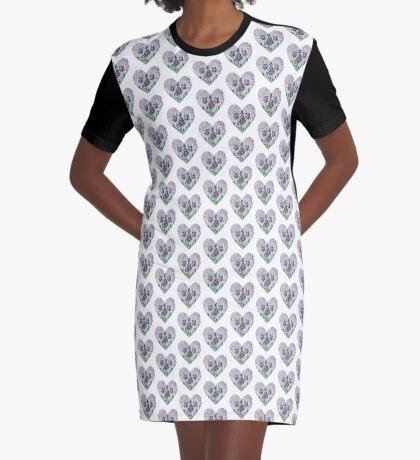 Alicia en el país de las maravillas - Jardín de las maravillas - Forma de corazón Vestido camiseta