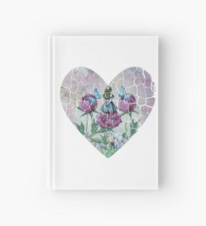 Alicia en el país de las maravillas - Jardín de las maravillas - Forma de corazón Cuaderno de tapa dura